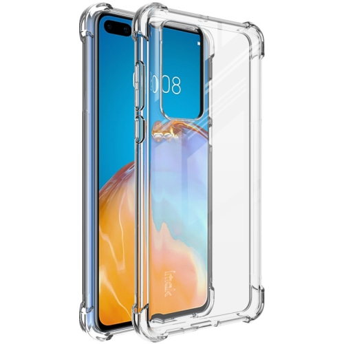 For Huawei P40   Full Coverage Shockproof TPU Protective Case(Transparent)