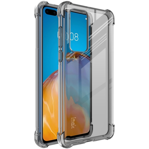 For Huawei P40   Full Coverage Shockproof TPU Protective Case(Transparent Black)