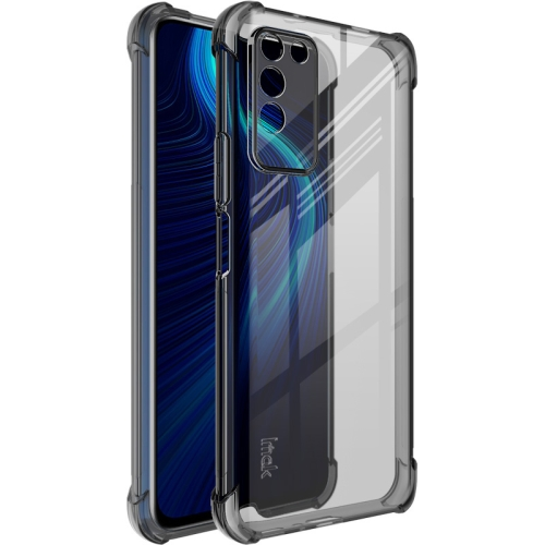For Honor X10 5G   Full Coverage Shockproof TPU Protective Case(Transparent Black)