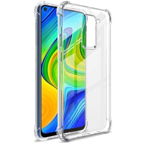For Xiaomi Redmi Note 9/Redmi 10X   Full Coverage Shockproof TPU Protective Case(Transparent)