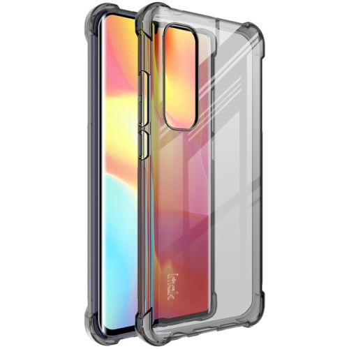 For Xiaomi Mi Note 10 Lite   Full Coverage Shockproof TPU Protective Case(Transparent Black)