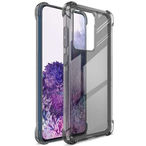 For Samsung Galaxy S20 Ultra 5G   Full Coverage Shockproof TPU Protective Case(Transparent Black)