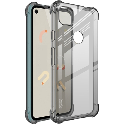 For Google Pixel 4a   Full Coverage Shockproof TPU Protective Case(Transparent Black)