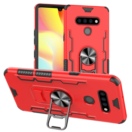 For LG K51 / Q51   Shockproof PC + TPU Protective Case with Beer Opener & Car Holder(Red)