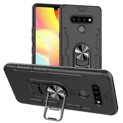 For LG K51 / Q51   Shockproof PC + TPU Protective Case with Beer Opener & Car Holder(Black)