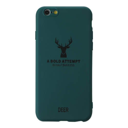 For Iphone 6/6S   Elk Pattern Shockproof Frosted TPU Protective Case(Green)