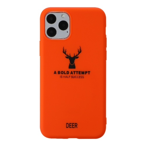 For iPhone 11 Pro   Elk Pattern Shockproof Frosted TPU Protective Case(Orange)