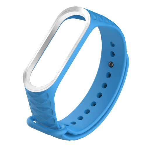 For Xiaomi 3 / 4 Diamond Texture Two-color Silicone Strap,Belt Length:23cm(Sky Blue) фото