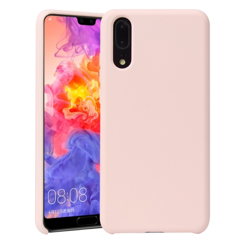 For Huawei P20 Pro Shockproof Silicone + TPU Protective Case(Pink) фото