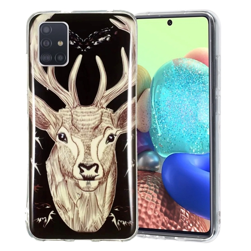 For Samsung Galaxy A51 5G Luminous TPU Mobile Phone Protective Case(Deer Head)  - buy with discount