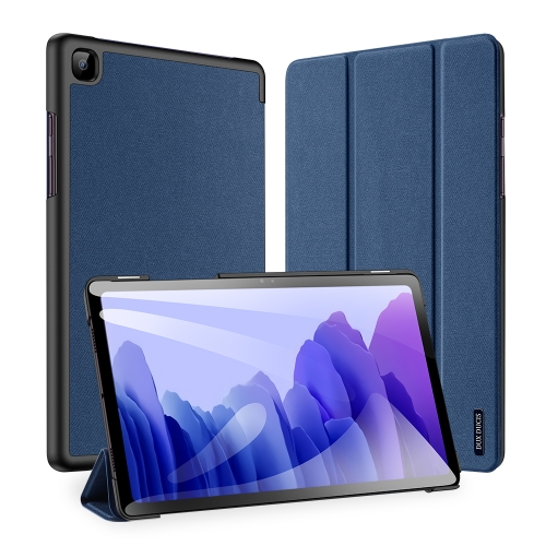 For Galaxy Tab A7 SM-T505 (2020) 10.4 inch DUX DUCIS Domo Series Horizontal Flip Magnetic PU Leather Case with Three-folding Holder (Blue)