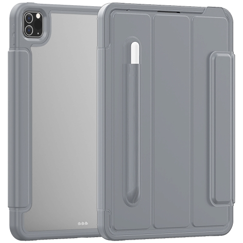 For iPad Pro 11 (2020) / (2018) Acrylic + TPU Horizontal Flip Smart Leather Case with Three-folding Holder & Pen Slot & Wake-up / Sleep Function(Grey) фото