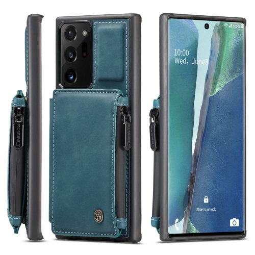 For Samsung Galaxy Note20 Ultra CaseMe Multifunctional PC + TPU Protective Case, with Card Slot & Holder & Wallet(Blue) фото