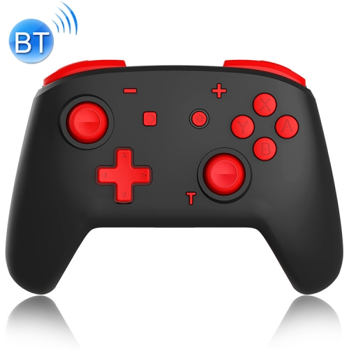 YS06 For Switch Pro Wireless Bluetooth GamePad Game Handle Controller, Color:Black Red фото