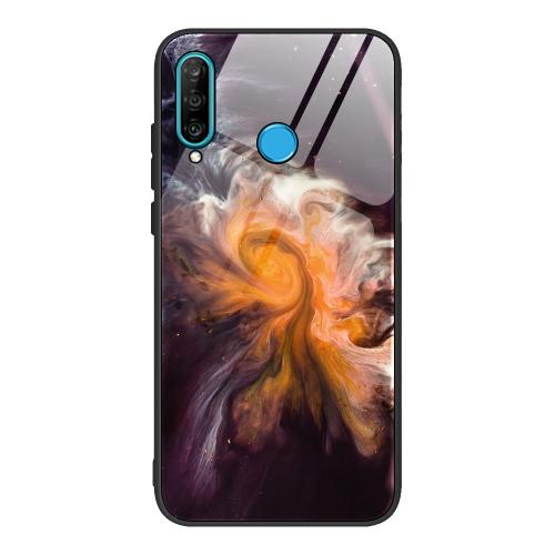 sunsky-online.com - 15% OFF by SUNSKY COUPON CODE: EDA00821001 for For Huawei P30 lite / nova 4e Marble Pattern Glass Protective Case(DL01)