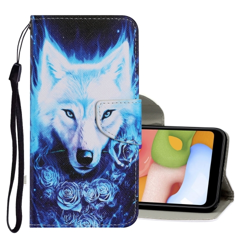 sunsky-online.com - 15% OFF by SUNSKY COUPON CODE: EDA00828801 for For Samsung Galaxy A10s Coloured Drawing Pattern Horizontal Flip PU Leather Case with Holder & Card Slots & Wallet & Lanyard(Rose Wolf)
