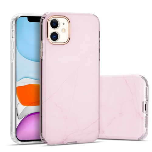 sunsky-online.com - 15% OFF by SUNSKY COUPON CODE: EDA00833901 for For iPhone 11 Marble Pattern Electroplating Phnom Penh TPU Phone Protective Case(Pink)