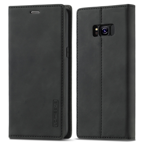 sunsky-online.com - 15% OFF by SUNSKY COUPON CODE: EDA00906701 for For Samsung Galaxy S8 LC.IMEEKE Strong Magnetism Ultra-thin Horizontal Flip Shockproof Matte TPU + PU Leather Case with Holder & Card Slots & Wallet(Black)