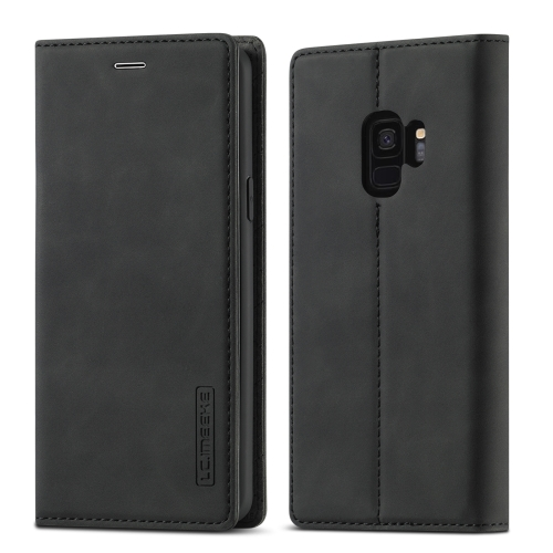 sunsky-online.com - 15% OFF by SUNSKY COUPON CODE: EDA00906703 for For Samsung Galaxy S9 LC.IMEEKE Strong Magnetism Ultra-thin Horizontal Flip Shockproof Matte TPU + PU Leather Case with Holder & Card Slots & Wallet(Black)