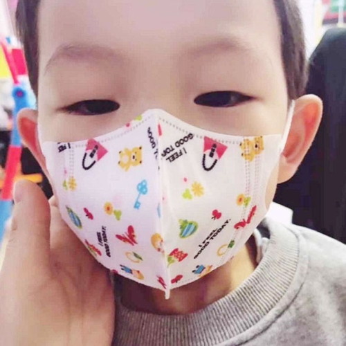 0-3 Years Baby (Boys) Disposable Melt-blown 4-layered Protection PM2.5 Dustproof Face Mask, Random Color Delivery