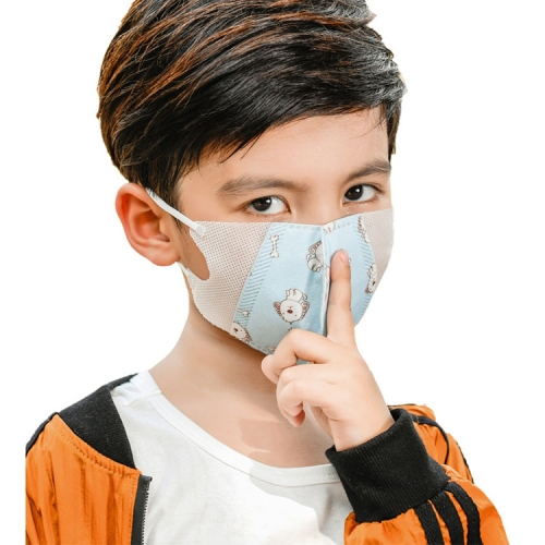 3-12 Years Kids (Girls) Disposable Melt-blown 4-layered Protection PM2.5 Dustproof Face Mask, Random Color Delivery