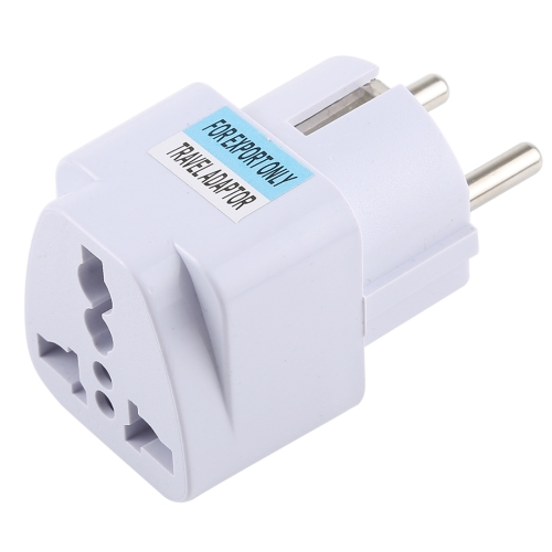Portable Universal UK Plug to EU Plug Power Socket Travel Charger Adapter with Fuse
