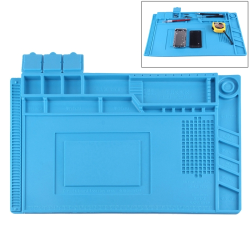 Maintenance Platform Anti-static Anti-slip High Temperature Heat-resistant Repair Insulation Pad Silicone Mats, Size: 45cm x 30cm (Blue)