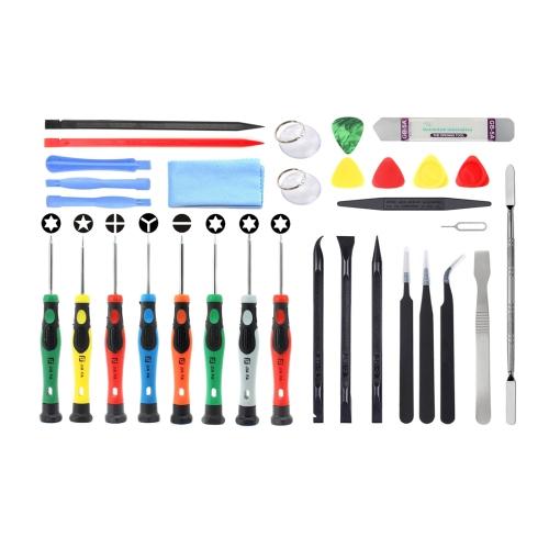 JF-8136 32 in 1 Multi-model Available Metal + Plastic Disassemble Repair Tool Kit