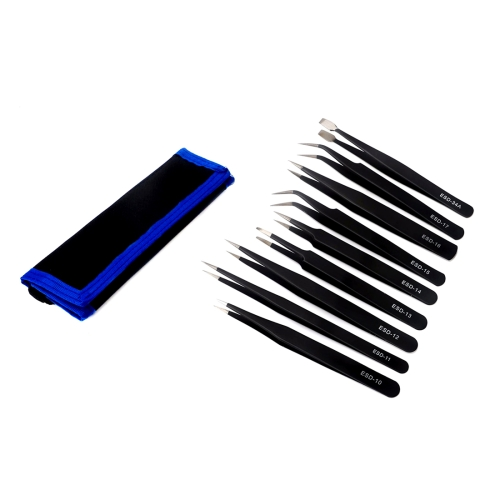 JF-8142 Metal Tweezers Repairing Disassemble Tool Kit