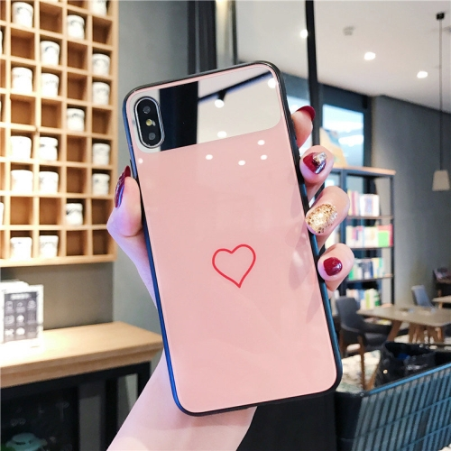 Glass Protective Case For iPhone 8 Plus & 7 Plus(Pink)