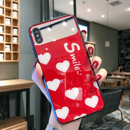 Glass Protective Case For iPhone XS Max(Red)