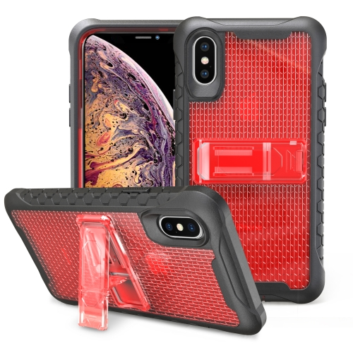 Football patternsilicone case with holder For iPhone XS Max(Red)