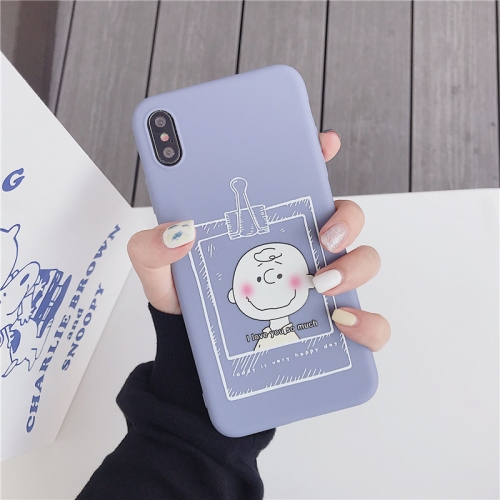 TPU Protective Case For iPhone XS Max(Cartoon Model D)