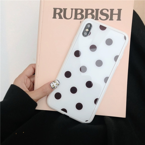 Glass Protective Case For iPhone 8 Plus & 7 Plus(Black Dot)