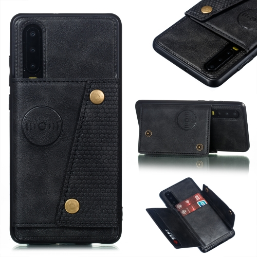 Leather Protective Case For Huawei P30(Black)