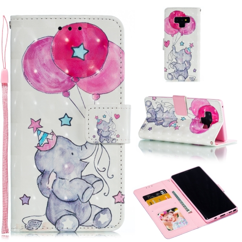 Leather Protective Case For Galaxy Note9(Elephant balloons)