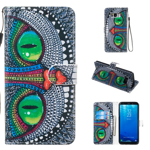 Leather Protective Case For Galaxy S8 Plus(Green Eyes)