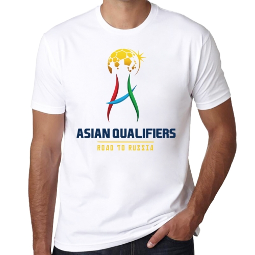 ASIAN QUALIFIERS Pattern FIFA World Cup 2018 Russia Soccer Clothes Sport T-shirt for Male, Size: S / M
