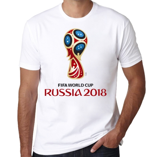 Dark Color Badge Pattern FIFA World Cup 2018 Russia Soccer Clothes Sport T-shirt for Male, Size: L / XL