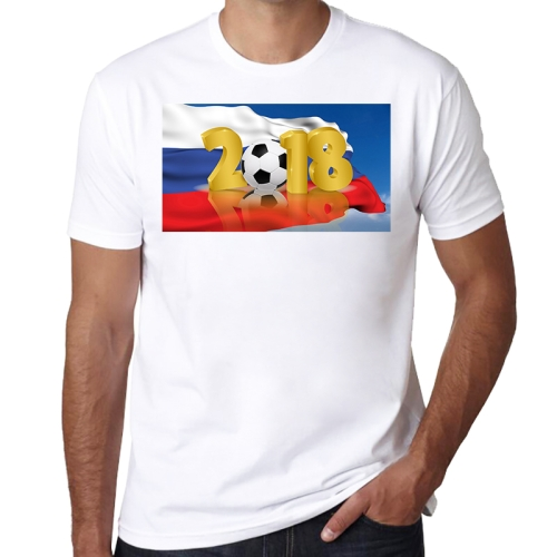 Abstract n Flag Pattern Soccer Clothes Sport T-shirt for Male, Size: 2XL / 3XL