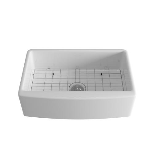 Sunsky Us Warehouse Rectangular Ceramic Kitchen Vessel Sink Farmhouse Bathroom Sink Size 82 6 X 52 7 X 25 4cm