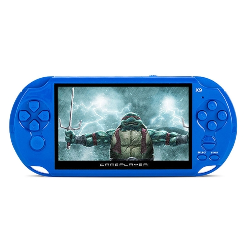 X9 PSP 5.1 inch Pockrt Console Handheld Game Player, Support GBA/ARC/NES (Blue)