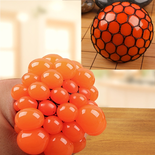Buy Anti Stress Face Reliever Grape Ball Extrusion Mood Squeeze Relief Healthy Funny Tricky Vent Toy, Orange for $1.34 in SUNSKY store