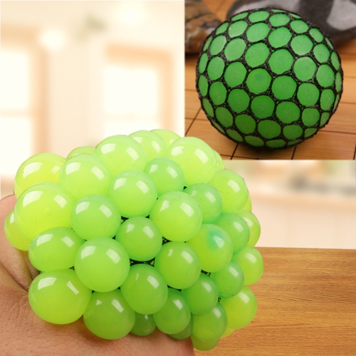 Buy Anti Stress Face Reliever Grape Ball Extrusion Mood Squeeze Relief Healthy Funny Tricky Vent Toy, Green for $1.34 in SUNSKY store