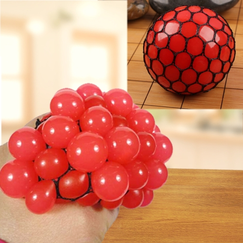 Buy Anti Stress Face Reliever Grape Ball Extrusion Mood Squeeze Relief Healthy Funny Tricky Vent Toy, Red for $1.34 in SUNSKY store