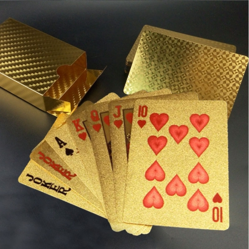 Buy Creative Frosted Golden Tattice Back Texture Plastic From Vegas to Macau Playing Cards Texas Poker Novelty Collection Gift for $3.35 in SUNSKY store