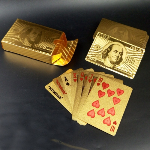 Buy Creative Frosted Golden Dollar Back Texture Plastic From Vegas to Macau Playing Cards Texas Poker Novelty Collection Gift for $3.36 in SUNSKY store