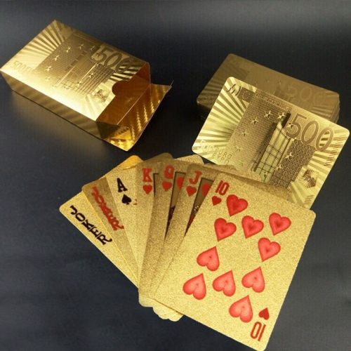 Buy Creative Frosted Golden 500 Euro Back Texture Plastic From Vegas to Macau Playing Cards Texas Poker Novelty Collection Gift for $3.35 in SUNSKY store