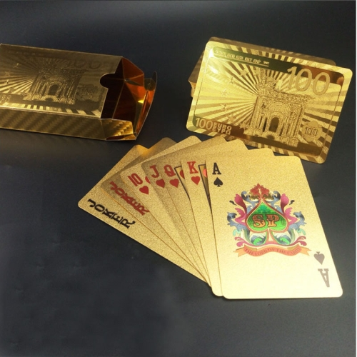 Buy Creative Frosted Golden 100 Euro Back Texture Plastic From Vegas to Macau Playing Cards Texas Poker Novelty Collection Gift for $3.35 in SUNSKY store