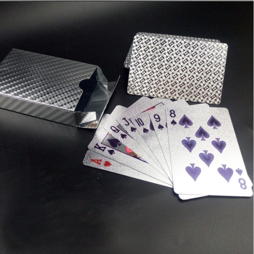 Buy Creative Frosted Silver Tattice Back Texture Plastic From Vegas to Macau Playing Cards Texas Poker Novelty Collection Gift for $3.57 in SUNSKY store